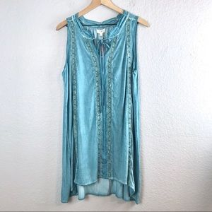 Umgee Crochet Shift Dress